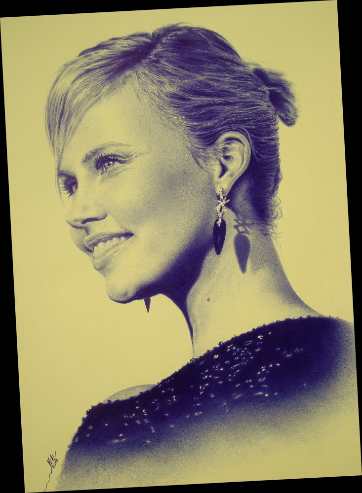 Charlize Theron by KILE